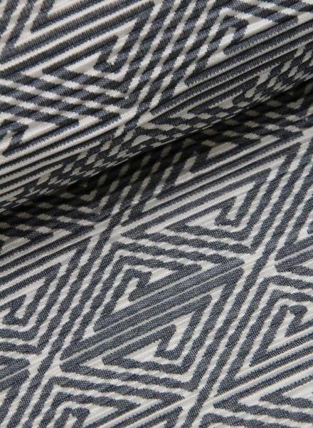 rekbare stof - plissé look