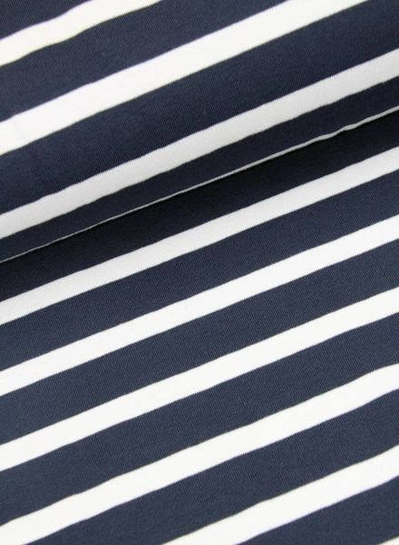 tricot- navy striped