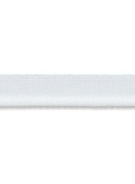 witte elastische paspel mat