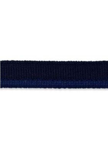 marineblauwe elastische paspel mat