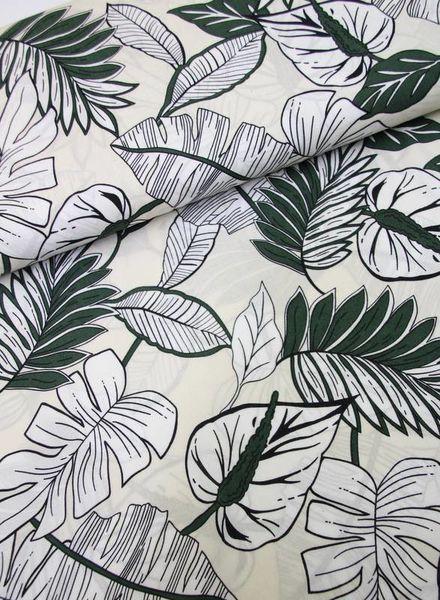 viscose - green ferns