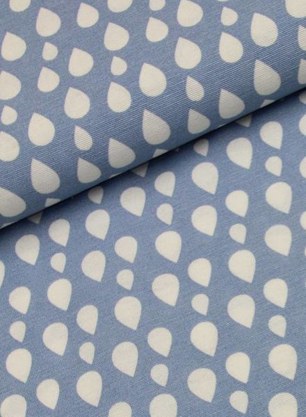 deco fabric - drops blue
