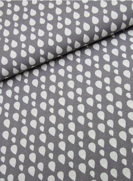 deco fabric - drops grey