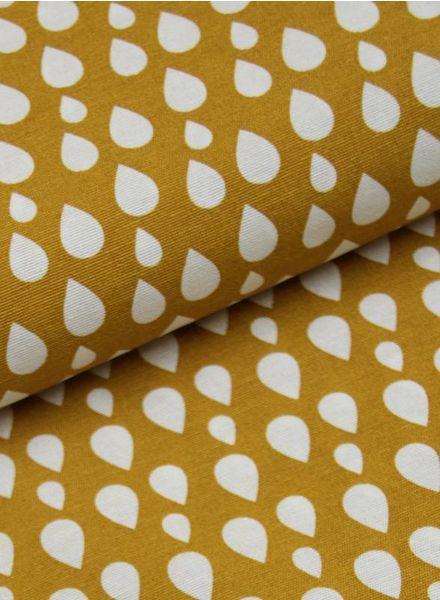 deco fabric - drops ochre