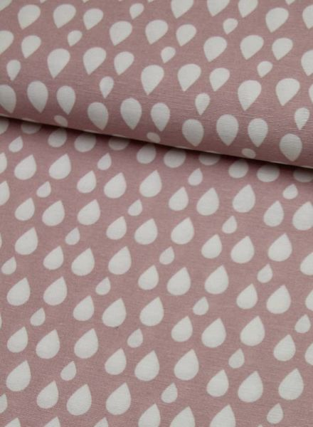 deco fabric - dusty pink drops