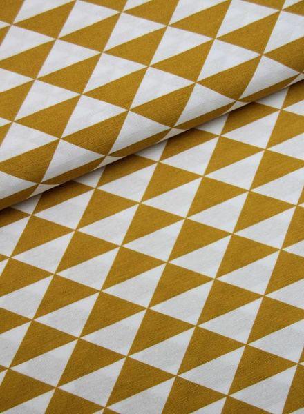 deco fabric  - triangles ochre