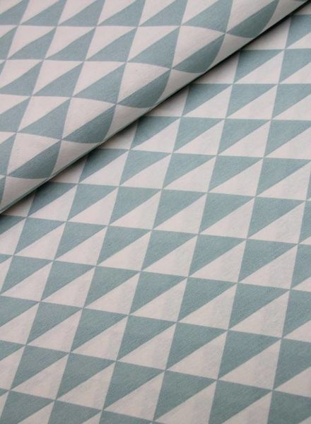 deco fabric- triangles mint
