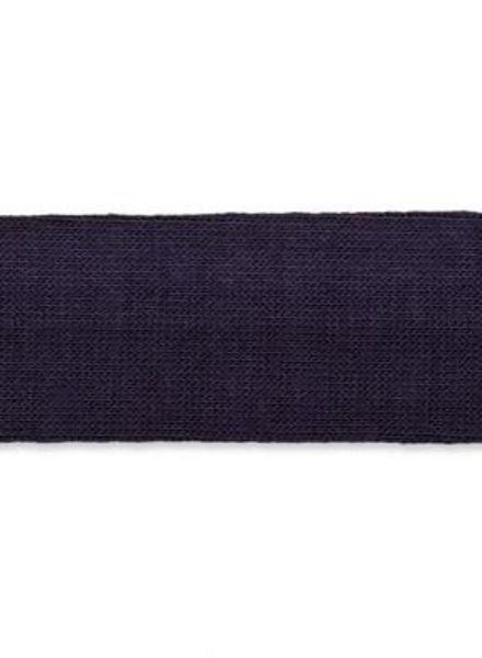 marineblauwe biais tricot