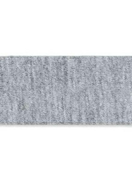 grijs mêlee biais tricot