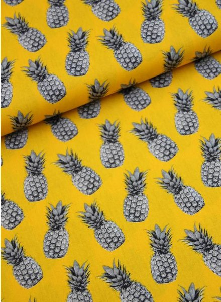 cotton - pineapple yellow