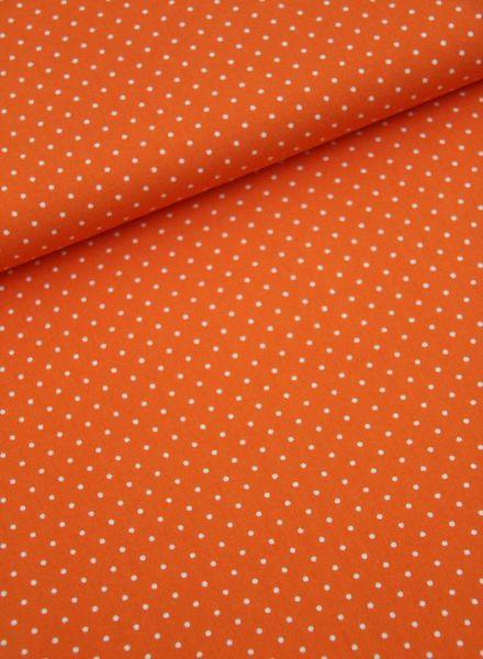 cotton - polkadots orange