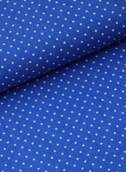 cotton - polkadots  cobalt