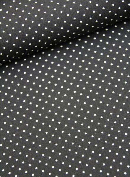 cotton - polkadots black