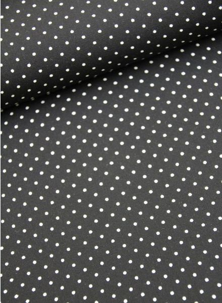 katoen - polkadots black