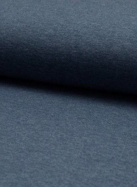 marineblauwe melee effen tricot