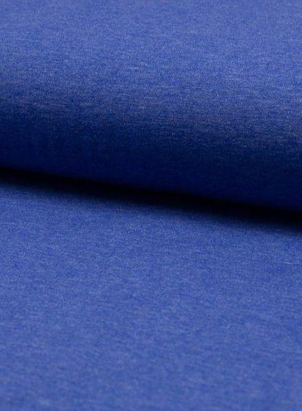 kobaltblauwe melee effen tricot