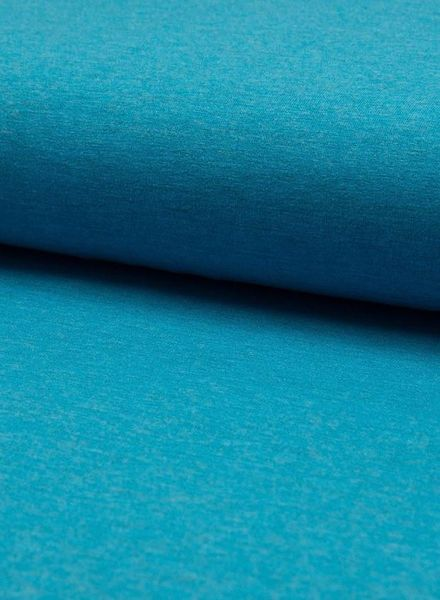 turquoise melee effen tricot