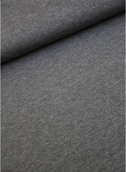 effen tricot donker grijs melange