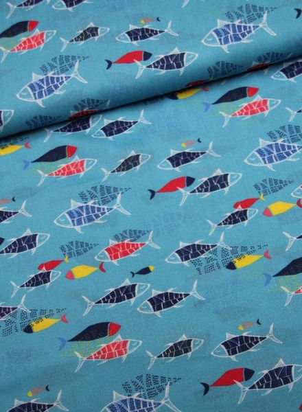 viscose - blue fish party