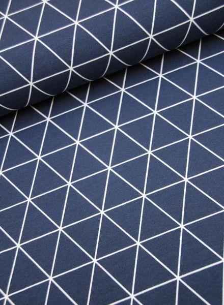 tricot - blue/white triangles