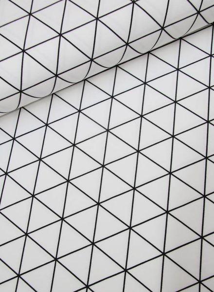 tricot - black n white triangles