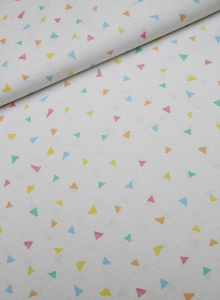 deco fabric - colored triangles
