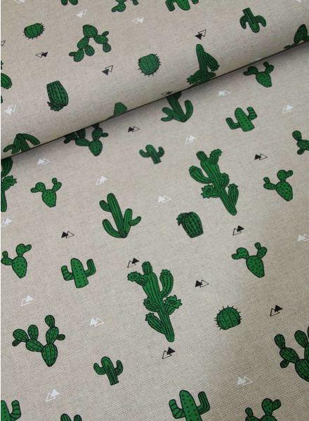 deco fabric - green cactus