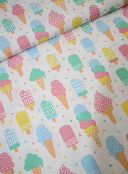 deco fabric - ice cream
