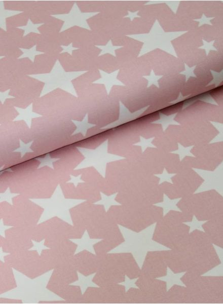 stevige katoen - jeany stars pink