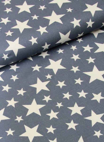 stevige katoen - jeany stars blue