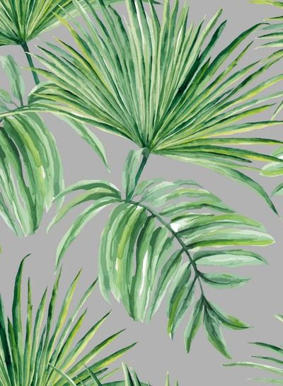 french terry - palm leaves