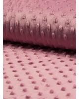 donker oud roze minky fleece
