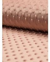 licht oud roze minky fleece