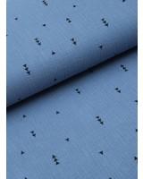 tetra stof - driehoekjes denimblauw