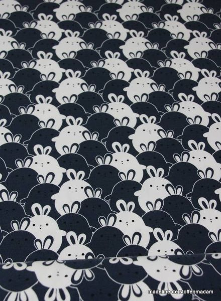 rabbit navy tricot