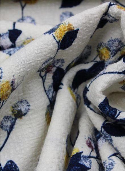 woven cotton barke crepe