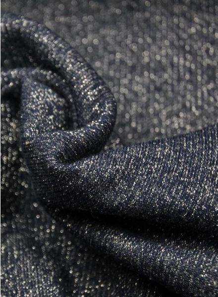Polytex Stoffen glitter sweater marineblauw