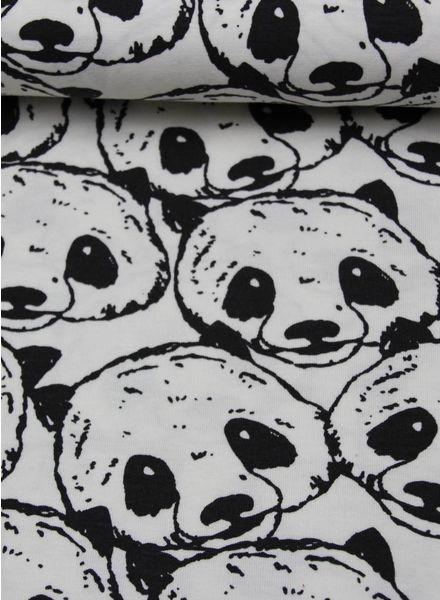 panda black and white tricot