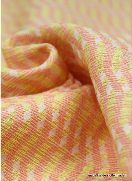 Yellow waves woven jacquard