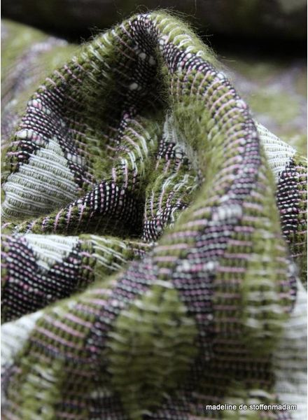 retro green geweven jacquard