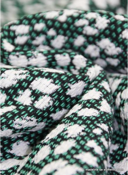 Julie green woven jacquard
