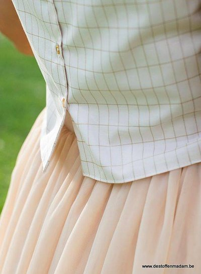 very soft pink gold - cotton lawn