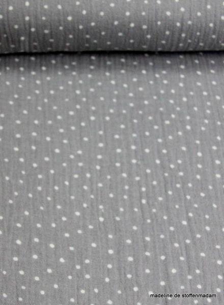grijze dots tetra  – double gauze