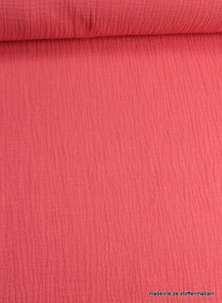 coral tetra fabric – double gauze