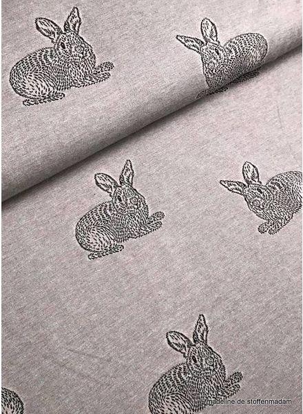 pink rabbit jacquard