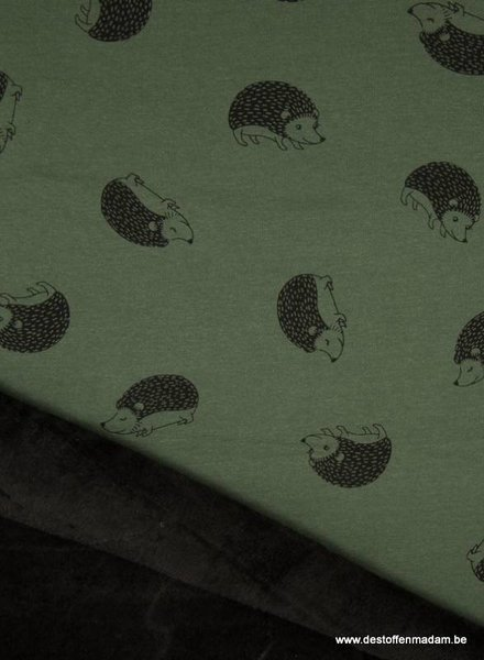 hedgehog khaki happy fleece