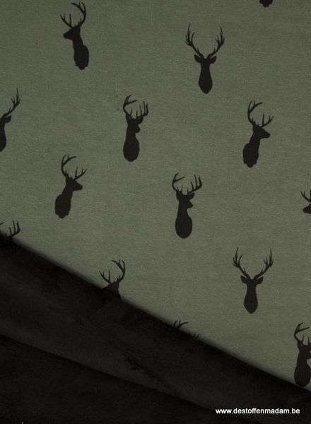 deer khaki happy fleece