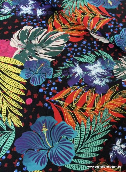 summer leaves viscose
