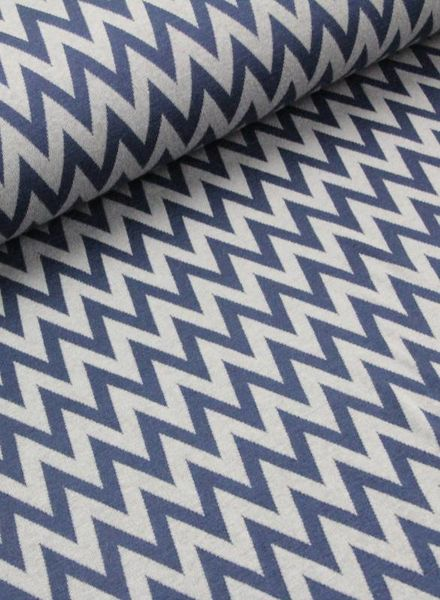 blue chevron - knitted viscose