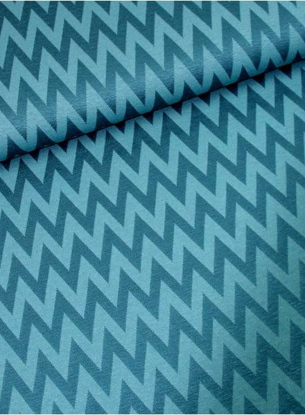 petrol chevron -  knitted viscose